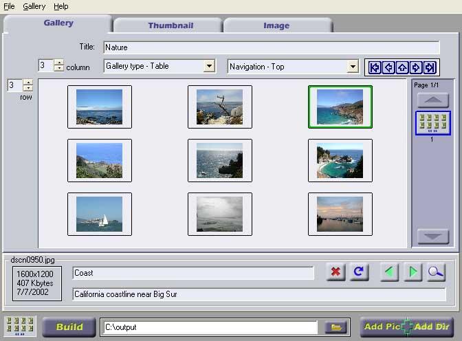 Gena Web Gallery Creator screenshot